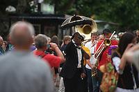 Jazz Ascona 2016 - Umzug von Musikern zum Jazz Festival in Ascona am Lago Magiore