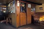 The Village Pub. The Bell Inn, Aldworth, Berks, Ian McCauley publican. 1991 1990s UK
