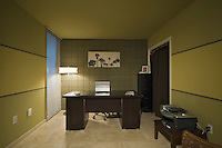 Home office in a renovated mid-century Palm Springs house