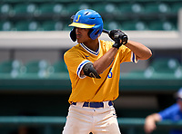 Jefferson Dragons Jaiden Duarte (3) during the 42nd Annual FACA All-Star Baseball Classic on June 6, 2021 at Joker Marchant Stadium in Lakeland, Florida.  (Mike Janes/Four Seam Images)