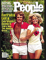 People magazine cover, Farrah Fawcett and Lee Majors, July 4, 1977. Photo by John G. Zimmerman.