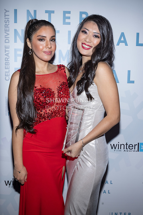 Sandra Masias and Anita Lok attends the 10th Annual Winter Film Awards International Film Festival Gala on October 2, 2021 at 230 Fift Avenue in New York City.