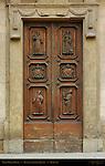 Right Portal Doors Basilica di Santa Trinita Florence