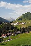 Austria, Vorarlberg, Warth: popular ski- and hiking-region