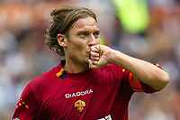 Roma 14/9/2003<br /> Roma Brescia 5-0<br /> Francesco Totti celebrates his  goal of 3-0<br /> Foto Staccioli Insidefoto