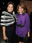 Ghayda Midani and Eva Farha  on the red carpet at Fashion Houston at the Wortham Theater Thursday Nov.14,2013.  (Dave Rossman photo)