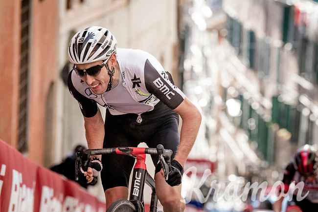 Michael Gogl (AUT/Qhubeka ASSOS) up the final steep climb in Siena<br /> <br /> 15th Strade Bianche 2021<br /> ME (1.UWT)<br /> 1 day race from Siena to Siena (ITA/184km)<br /> <br /> ©kramon
