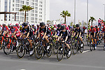 The start of Stage 6 of the 2021 UAE Tour running 165km from Deira Island to Palm Jumeirah, Dubai, UAE. 26th February 2021.  <br /> Picture: Eoin Clarke   Cyclefile<br /> <br /> All photos usage must carry mandatory copyright credit (© Cyclefile   Eoin Clarke)