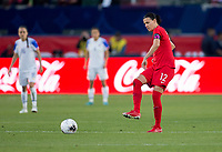 CARSON, CA - FEBRUARY 07: Christine Sinclair #12 of Canada passes a ball off during a game between Canada and Costa Rica at Dignity Health Sports Complex on February 07, 2020 in Carson, California.