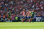 Atletico de Madrid's Juanfran Torres (L) and Jose Maria Gimenez (R) during La Liga match. September 15, 2018. (ALTERPHOTOS/A. Perez Meca)