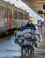 Urban Street Photography. Termini station in Rome Italy. <br />