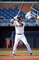 Peoria Javelinas Drew Jackson (18), of the Seattle Mariners organization, during a game against the Surprise Saguaros on October 12, 2016 at Peoria Stadium in Peoria, Arizona.  The game ended in a 7-7 tie after eleven innings.  (Mike Janes/Four Seam Images)
