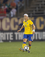 Sweden defender Sara Thunebro (6). The US Women's national team beat Sweden, 3-0, at Rentschler Field on July 17, 2010.