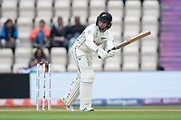 Devon Conway, New Zealand clips into the on side to reach his half century during India vs New Zealand, ICC World Test Championship Final Cricket at The Hampshire Bowl on 20th June 2021