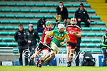 Mikey Boyle, Kerry in action against Michael Hughes, Down during the National hurling league between Kerry v Down at Austin Stack Park, Tralee on Sunday.