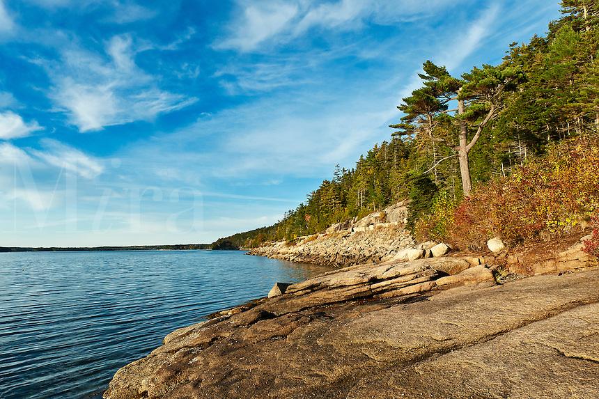 Somes Sound scenic, Mount Desert Island, Maine, ME, USA