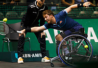 Rotterdam, The Netherlands, 15 Februari 2020, ABNAMRO World Tennis Tournament, Ahoy, <br /> Wheelchair: Final. Alfie Hewett (GBR).<br /> Photo: www.tennisimages.com
