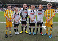 ATTENTION SPORTS PICTURE DESK<br /> Pictured: Swansea City and Newcastle United mascots<br /> Re: Coca Cola Championship, Swansea City Football Club v Newcastle United at the Liberty Stadium, Swansea, south Wales. 13 February 2010