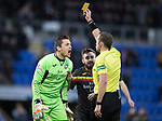 St Johnstone v Partick Thistle…27.01.18…  McDiarmid Park…  SPFL<br />Tomas Cerny is booked by referee Gavin Duncan<br />Picture by Graeme Hart. <br />Copyright Perthshire Picture Agency<br />Tel: 01738 623350  Mobile: 07990 594431