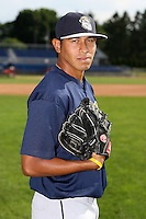 June 21st 2008:  Pitcher Mark Rodrigues of the Mahoning Valley Scrappers, Class-A affiliate of the Cleveland Indians, during a game at Dwyer Stadium in Batavia, NY.  Photo by:  Mike Janes/Four Seam Images