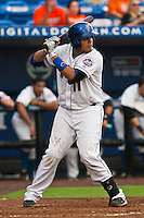 Francisco Pena #11 of the St. Lucie Mets during game 3 of the Florida State League Championship Series against the Daytona Cubs at Digital Domain Park on Spetember 11, 2011 in Port St. Lucie, Florida. Daytona won the game 4-2 to win the Florida State League Championship.  Photo by Scott Jontes / Four Seam Images