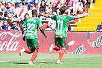 Deportivo Alaves Wakaso Mubar and Ibai Gomez celebrating a goal during La Liga match between Rayo Vallecano and Deportivo Alaves at Estadio de Vallecas in Madrid, Spain. September 22, 2018. (ALTERPHOTOS/Borja B.Hojas)