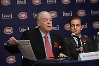 Montreal  (Quebec) CANADA - Nov 2011 File Photo - <br /> Dr David Mulder at the press conference where<br /> <br /> Hockey Player Max Pacioretty annonce he <br />  return to Hockey<br />  after a major injury.