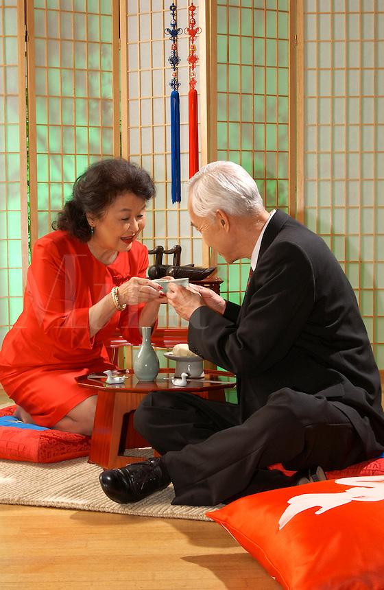 Japanese tea ceremony.