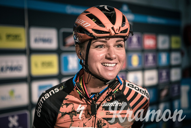 Chantal Blaak (NED/Boels Dolmans CT) pre race<br /> <br /> 12th Women's Omloop Het Nieuwsblad 2020 (BEL)<br /> Women's Elite Race <br /> Gent – Ninove: 123km<br /> <br /> ©kramon