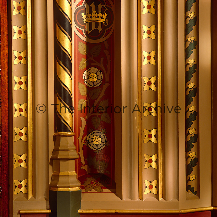 One of a variety of patterns and mouldings that have been used to decorate the walls of the House of Lords