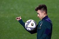 Football: Uefa Nations League Group A match Italy vs Netherlands at Gewiss stadium in Bergamo, on October 14, 2020.<br /> Italy's Stephan El Shaarawy during the warm up prior to the Uefa Nations League match between Italy and Netherlands s at Gewiss stadium in Bergamo, on October 14, 2020. <br /> UPDATE IMAGES PRESS/Isabella Bonotto