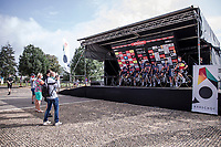 Team Alpecin Fenix at the pre race team presentation.<br /> <br /> Dwars Door Het Hageland 2020<br /> One Day Race: Aarschot – Diest 180km (UCI 1.1)<br /> Bingoal Cycling Cup 2020