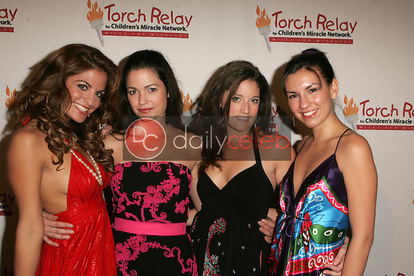 Bridgetta Tomarchio, Mary Harris, Erin Chick and Nikki<br /> at the Children's Miracle Network Torch Relay Celebration, Renaissance Hotel, Hollywood, CA 11-19-06<br /> <br /> David Edwards/DailyCeleb.Com 818-249-4998