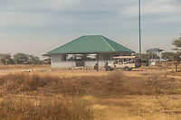 Tanzania.  Serengeti South Airstrip Terminal, Serengeti National Park.
