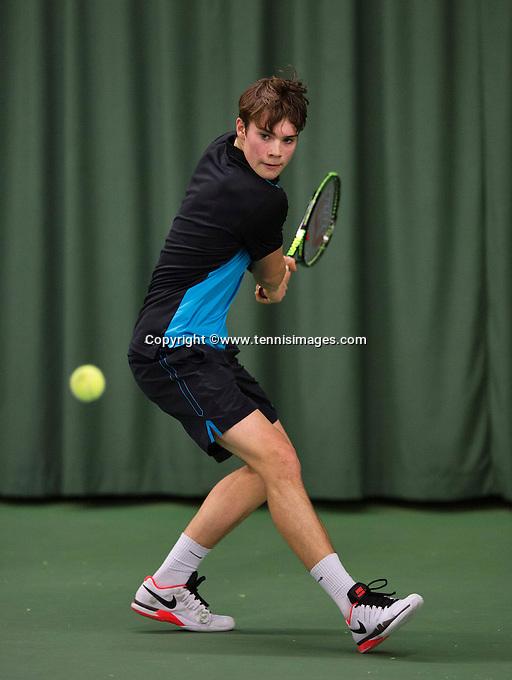 Rotterdam, The Netherlands, March 19, 2016,  TV Victoria, NOJK 14/18 years, Ryan Nijboer (NED)<br /> Photo: Tennisimages/Henk Koster