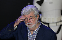 George Lucas attends the STAR WARS: 'The Force Awakens' EUROPEAN PREMIERE at Odeon, Empire & Vue Cinemas, Leicester Square, England on 16 December 2015. Photo by David Horn / PRiME Media Images
