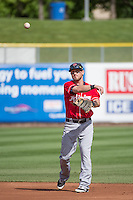 Shawn O'Malley (18) of the Tacoma Rainiers before the game against the Salt Lake Bees in Pacific Coast League action at Smith's Ballpark on May 7, 2015 in Salt Lake City, Utah. The Bees defeated the Rainiers 11-4 in the completion of the game that was suspended due to weather on May 6, 2015.(Stephen Smith/Four Seam Images)