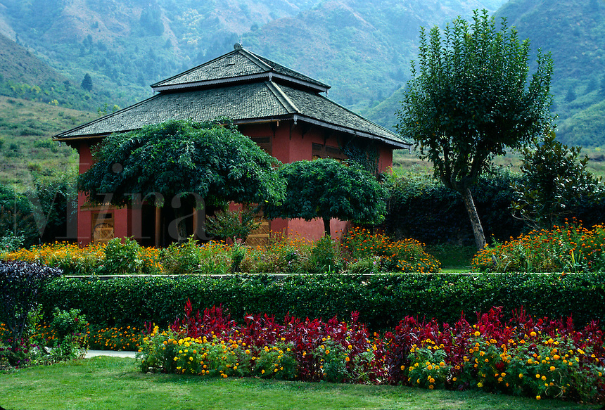 The MOGHUL GARDEN of CHASMA SHAHI in the city of SRINIGAR - KASHMIR, INDIA