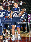 Jackson State Tigerettes center Tiffany Kellum (22) in action during the SWAC Tournament game between the Prairie View A&M Lady Panthers and the Jackson State Tigerettes  at the Special Events Center in Garland, Texas. Prairie View defeats Jackson State 56 to 40.
