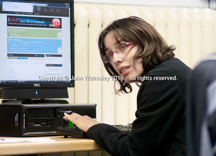Computing class for a learning support group, Adult Learning Centre, Guildford, Surrey.