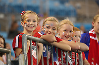 CHARLOTTE, NC - OCTOBER 03: Young fans of the United States prior to the game versus Korea Republic at Bank of American Stadium, on October 03, 2019 in Charlotte, NC.
