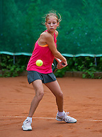 August 4, 2014, Netherlands, Dordrecht, TC Dash 35, Tennis, National Junior Championships, NJK,  Anouk Koevermans (NED)<br /> Photo: Tennisimages/Henk Koster