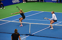 21-12-13,Netherlands, Rotterdam,  Topsportcentrum, Tennis Masters, Lady's double final Indy de Vroome and Michaella Krajicek<br /> Photo: Henk Koster