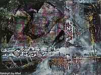Abstract painting by artist Joy Alford of Gig Harbor