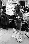 """Gay Liberation Front. Demonstration by Gay and Lesbian activists against Pan books. Central London 1971. Sex Doctor David Reuben publication of his book """"Everything you want to know about sex"""""""