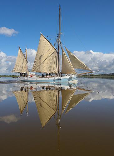 The historic Irish sailing ship Ilen will voyage this summer between some sea-harboured walled Irish towns