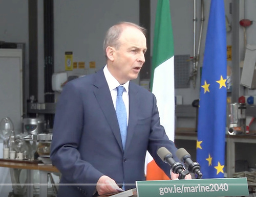An Taoiseach Michéal Martin TD launched the National Marine Planning Framework (NMPF), Ireland's first national framework for managing marine activities at Dun Laoghaire Harbour. The framework, which will apply to a maritime area of approximately 495,000km², outlines a vision for how we want to use, protect and enjoy our seas in the years up to 2040