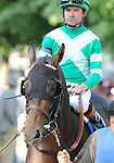 09 September 07: Mushka (no. 3), ridden by Kent Desormeaux and trained by Bill Mott, wins the 14th running of the grade 3 Glens Falls Stakes for fillies and mares three years old and upward at Saratoga Race Track in Saratoga Springs, New York.