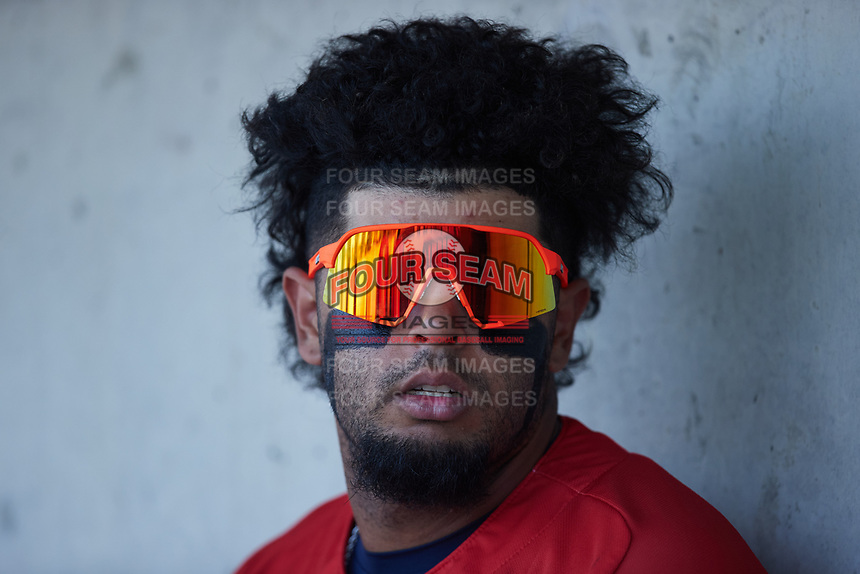 Diego Infante (13) of the Charleston RiverDogs during the game against the Kannapolis Cannon Ballers at Atrium Health Ballpark on July 4, 2021 in Kannapolis, North Carolina. (Brian Westerholt/Four Seam Images)