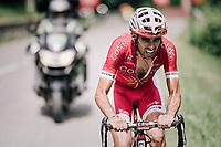 Daniel Navarro (ESP/Cofidis) up front<br /> <br /> Stage 7: Moûtiers > Saint-Gervais Mont Blanc (129km)<br /> 70th Critérium du Dauphiné 2018 (2.UWT)